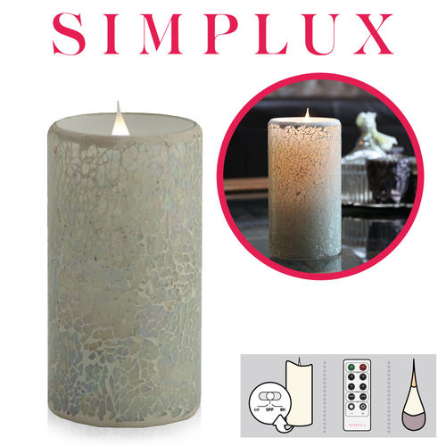 Simplux - Cracklé Glass - Weiß