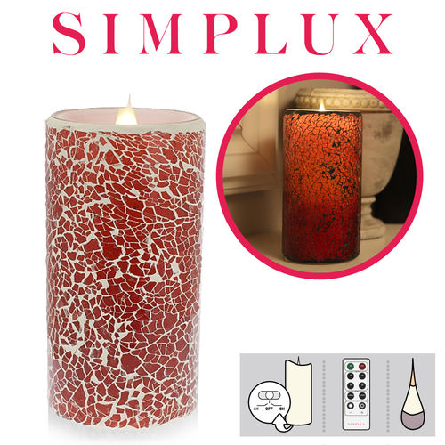 Simplux - Cracklé Glass - Rot