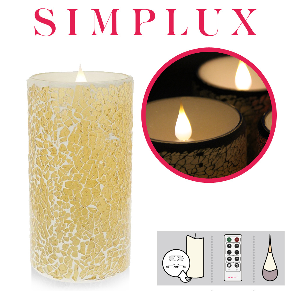 Simplux - Cracklé Glass - champagne
