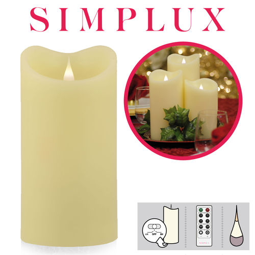 Simplux - Melted Top LED candle - Ivory