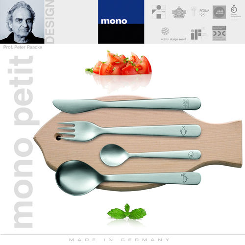 mono petit - children's flatware 4 pcs with cutting board