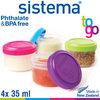 sistema - Dressing To Go Set of 4