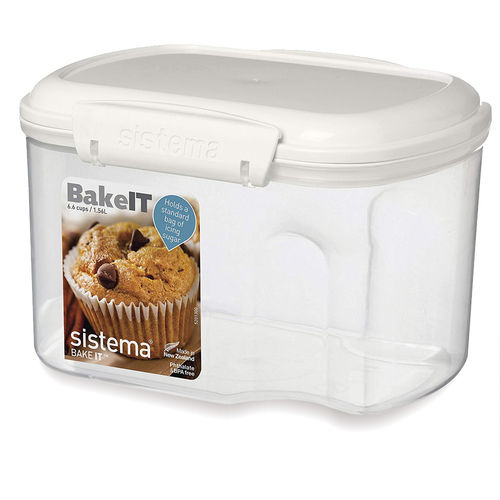 Sistema - Storage box with measuring cup - 1560 ml