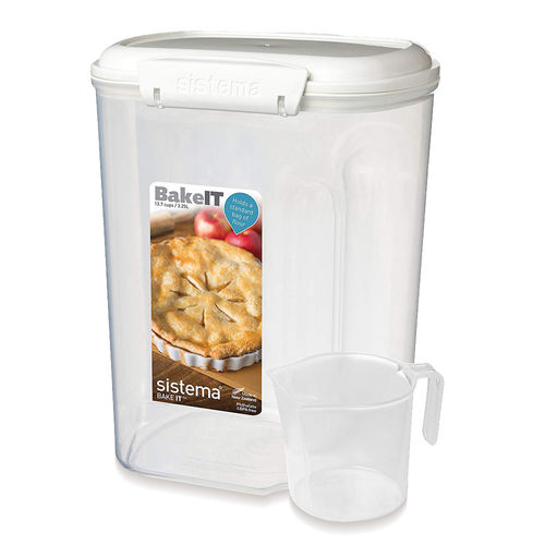 Sistema - Storage box with measuring cup - 3250 ml