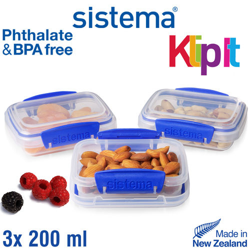 sistema - Klip It Frischhalteboxen-Set - 3-tlg
