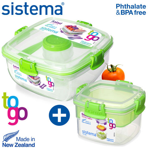 sistema - Snack Box + Salad box To Go