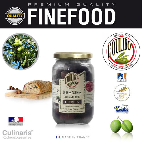 Culinaris - L'Oulibo Olive black - Lucques Nature 380 g