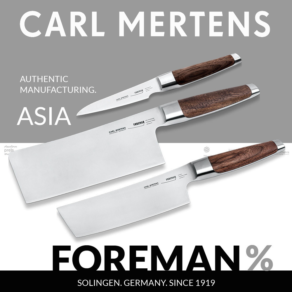 Carl Mertens - FOREMAN - Asia knife set 3 pieces