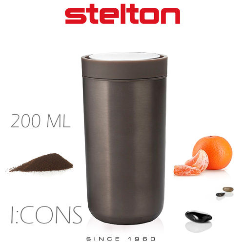 Stelton - To Go Click - Becher 200 ml - Dark brown Metallic