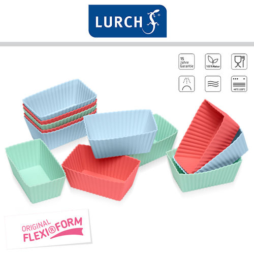 Lurch - Flexi®Form Brownie Set of 12 Pastel Mix