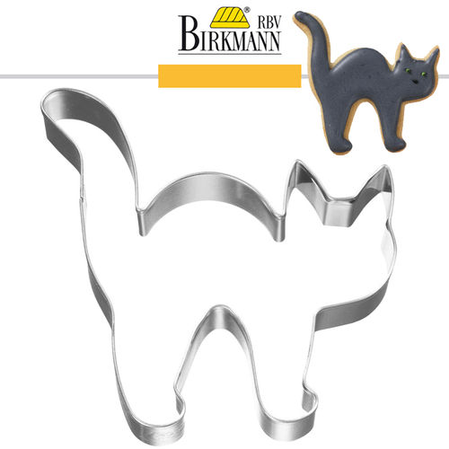 RBV Birkmann - Cookie cutter Halloween cat 8 cm