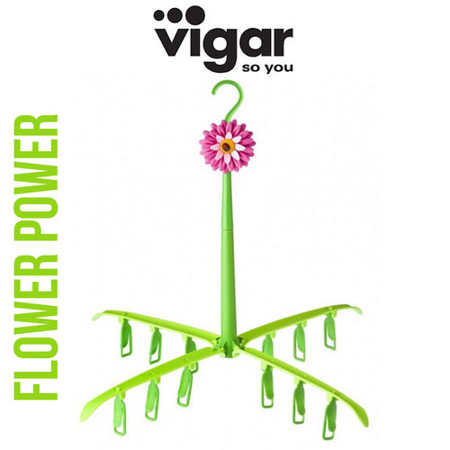 Vigar - Flower Power Foldable Drying Rack with Hook