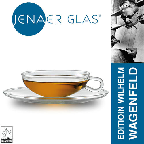 Jenaer glass - Teacup with saucer - Wilhelm Wagenfeld