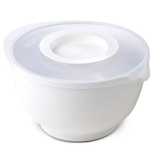 Rosti - Mixing Bowl Margrethe 3 L white + Anti Splash Lid