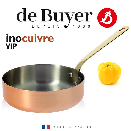 de Buyer - Sauteuse mit Messinggriff