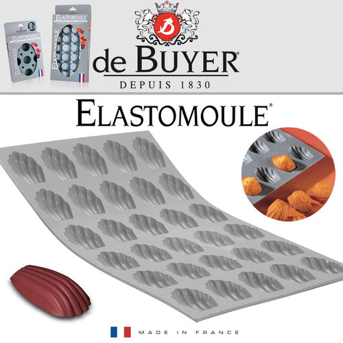 de Buyer - ELASTOMOULE - 30 Mini-Madeleine