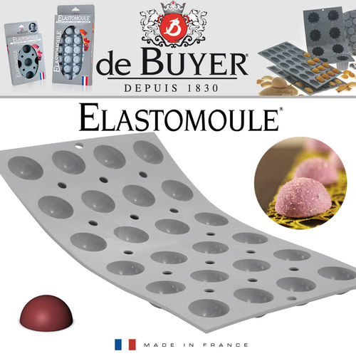 de Buyer - ELASTOMOULE - 24 Mini Halbkugeln