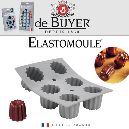 de Buyer - ELASTOMOULE - 6 Cannelé
