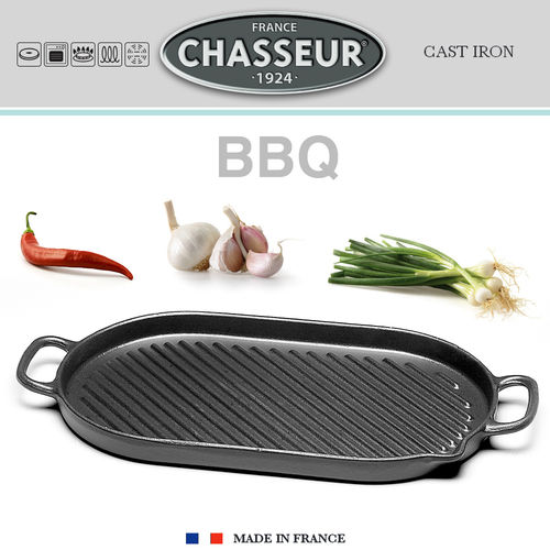 Chasseur - Ovale Grillpfanne 53 x 23 cm