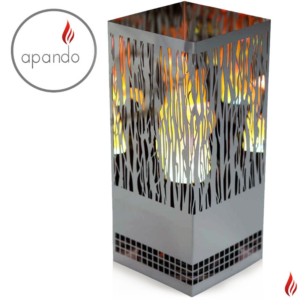 "Apando - Flame light ""Square Brazier"" - Vine"