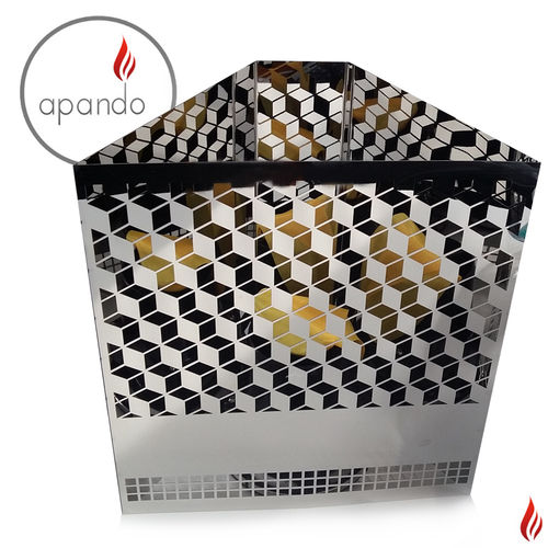 "Apando - Flammenleuchte ""Firebox"" - Diamonds"