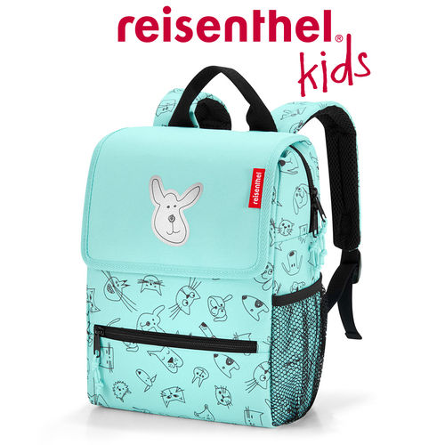 reisenthel - backpack - kids - cats and dogs mint