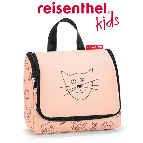 reisenthel - toiletbag S - kids - cats and dogs rose