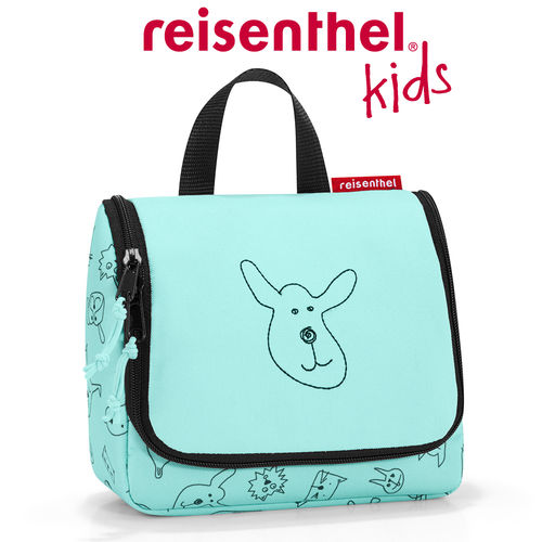 reisenthel - toiletbag S - kids - cats and dogs mint