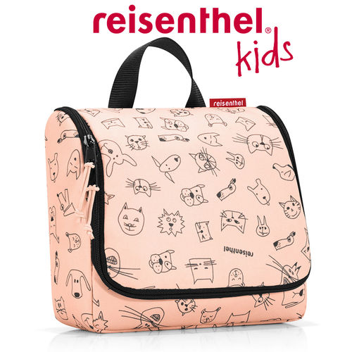 reisenthel - toiletbag - cats and dogs rose