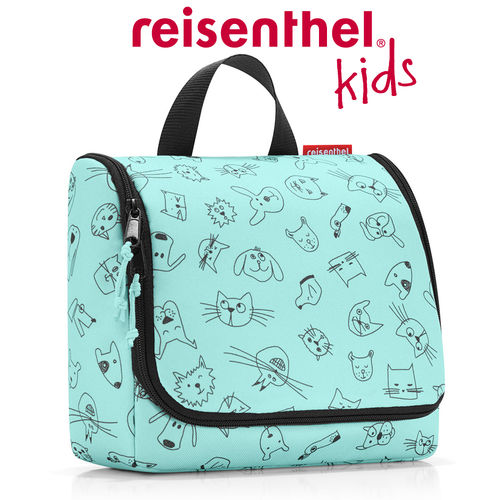 reisenthel - toiletbag - cats and dogs mint