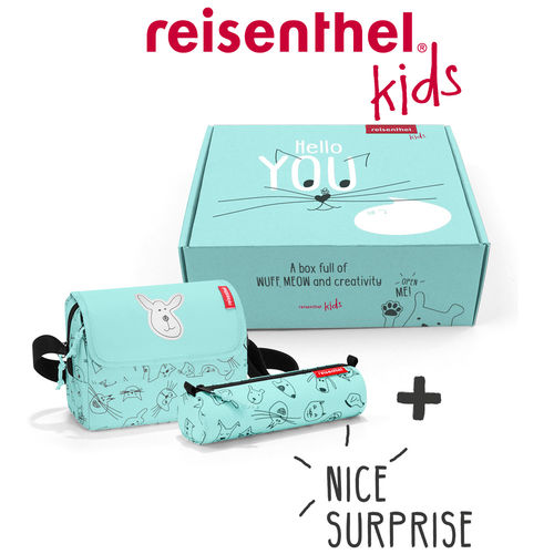reisenthel - suprise box - kids - cats and dogs mint
