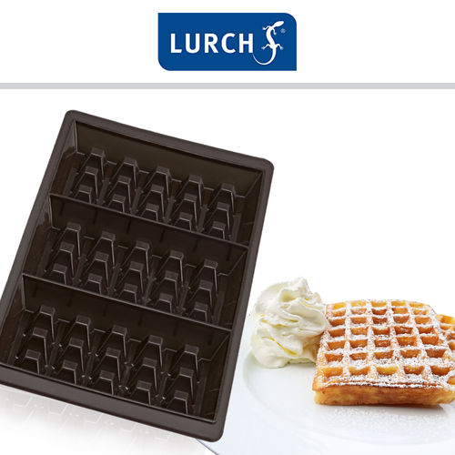 Lurch - Flexiform Waffle 29x14,5cm 3cavity 2pcs set brown