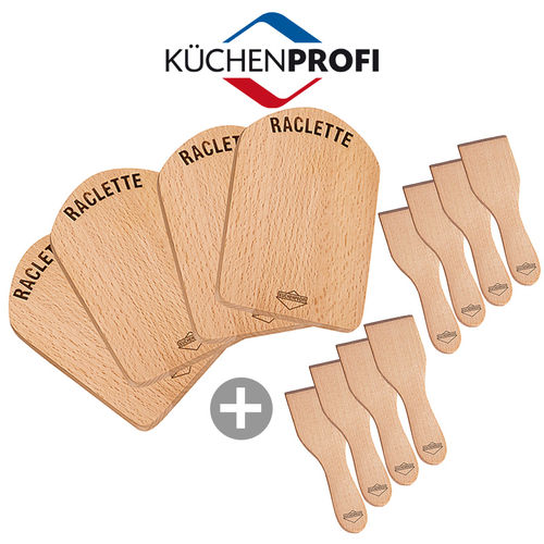 Küchenprofi - Raclette scraper + Cutting boards