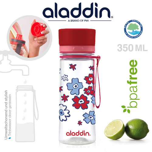 aladdin - Aveo  Water Bottle - Red graphic 300 ml
