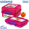 sistema - Lunch Cube + Small Split - Pink