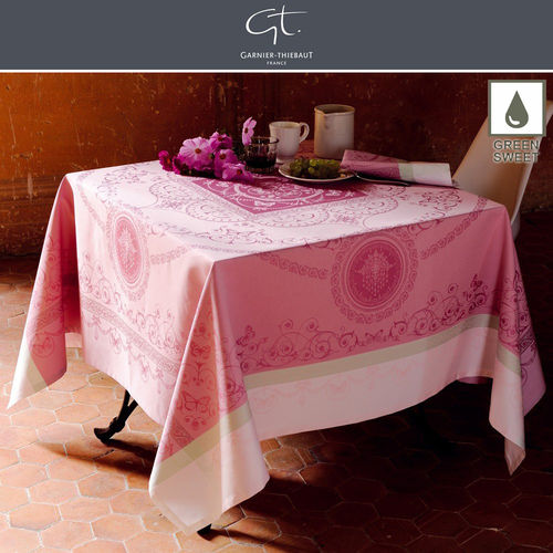 GARNIER THIEBAUT - Tablecloth Eugenie Candy