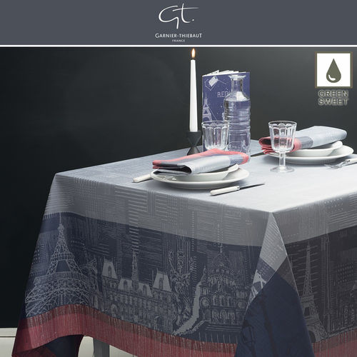 GARNIER THIEBAUT - Tablecloth Parisienne Ardoise