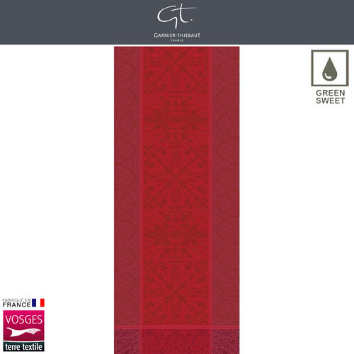 Garnier Thiebaut Table Runner - Cassandre Grenat