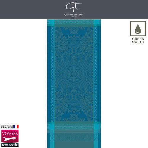 Garnier Thiebaut Table Runner - Isaphire Emeraude
