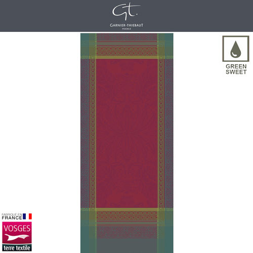 Garnier Thiebaut Table Runner - Isaphire Rubis