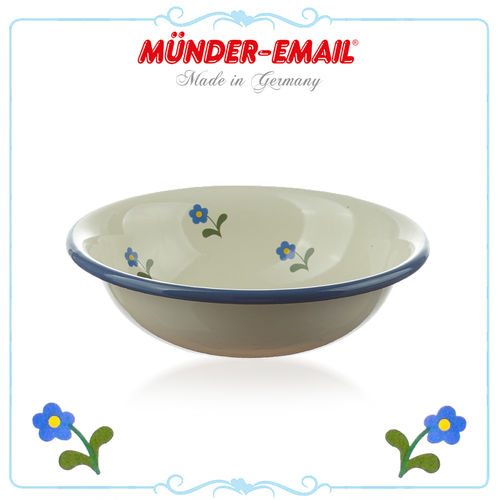 Münder Email - Child Bowl 14 cm - Beige with Flowers