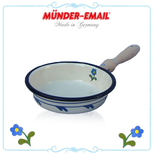 Münder Email - Children's pan 9 cm - Beige with Flowers