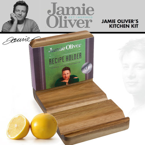 Jamie Oliver - Recipe Book / Tablet Holder Acacia