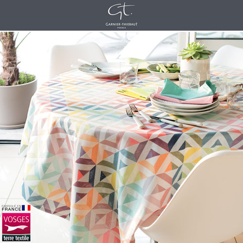 GARNIER THIEBAUT - Tablecloth Mille Twist Pastel