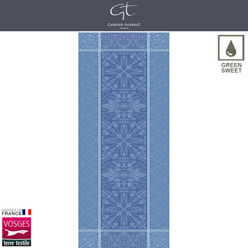 Garnier Thiebaut Table Runner - Cassandre Saphir