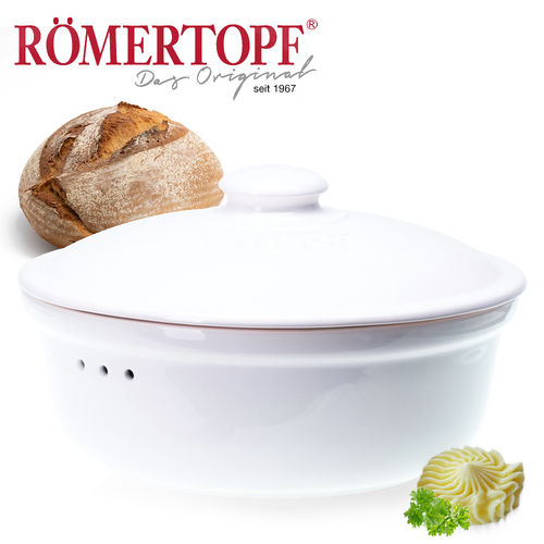 Römertopf - Bread-fresh-pot round - white