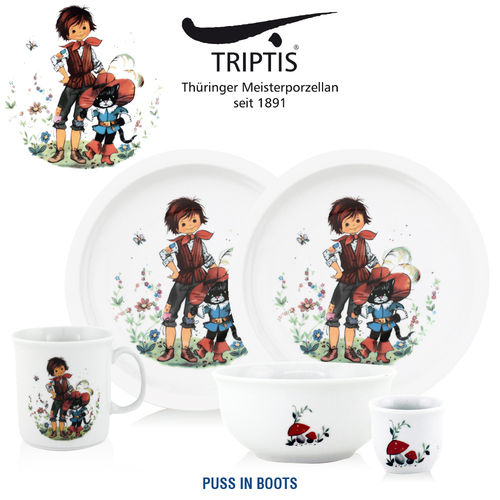 Triptis - Children's tableware - Puss in Boots