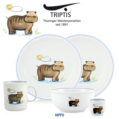 Triptis - Children's tableware - Hippo