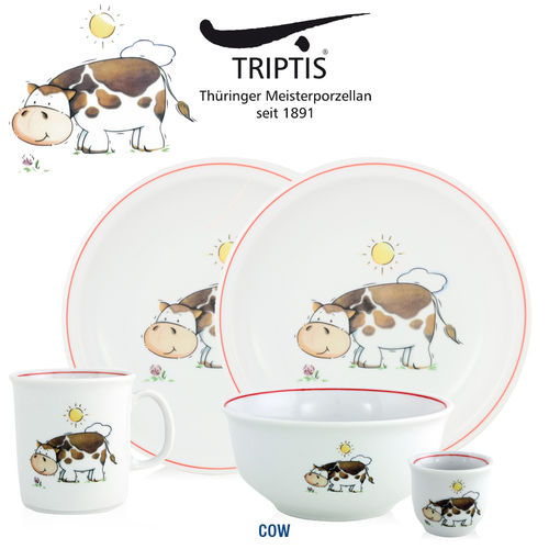 Triptis - Children's tableware - Cow