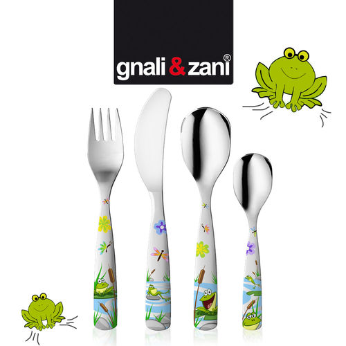 Gnali & Zani - Children's Cutlery Fresh Frogs